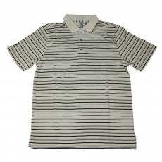 Ashworth Mens Thin Stripes 3 Tone Polo Shirt