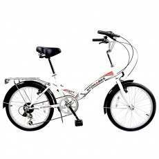 Stowabike Folding City V2 Compact Bike Red / White