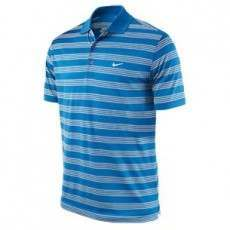 Nike Golf Tech Stripe Polo - Bright Blue