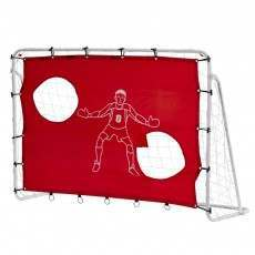Woodworm 6' x4' Metal Football Goal Posts w/ Target Mesh