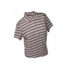 Ashworth Ladies 4 Button Striped Polo Shirt