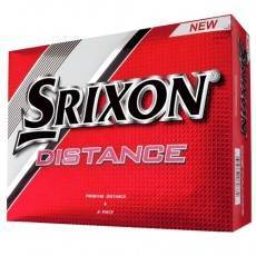 12 Srixon Distance Mens Golf Balls - 1 Dozen White
