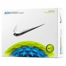 12 Nike RZN Speed White Golf Balls - Volt