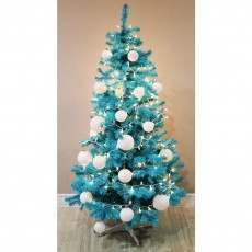 Homegear 6ft Turquoise Artificial Christmas Tree