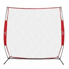 Wodoworm 2.2m x 2.2m Quick Up Sports Bow Frame and Net - Practice/Protective Net Screen for Cricket, Baseball and Other Sports