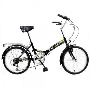 Stowabike Folding City V2 Compact Bike Black / Green
