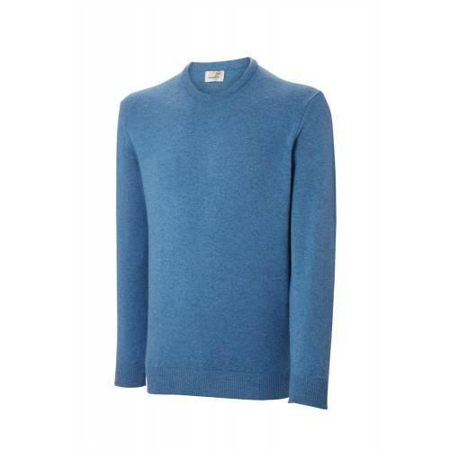Ashworth Mens Long Sleeve Crew Neck Lambswool Sweater