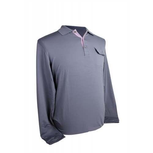 Adidas Mens AdiPure Box Pleat Long Sleeve Polo
