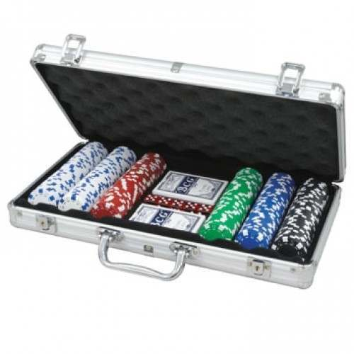 EX-DEMO CQ Poker 300 Dice 11.5g Poker Chips in Aluminium Case