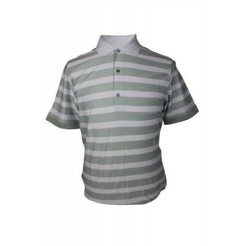 Ashworth Mens Thick Stripes Polo Shirt