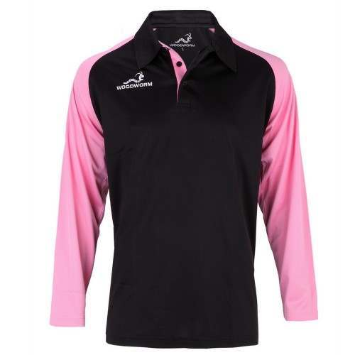 Woodworm Pro Cricket Long Sleeve Shirt Pink