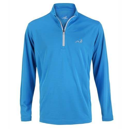 Woodworm 1/4 Zip Golf Pullover - Sky Blue / Silver