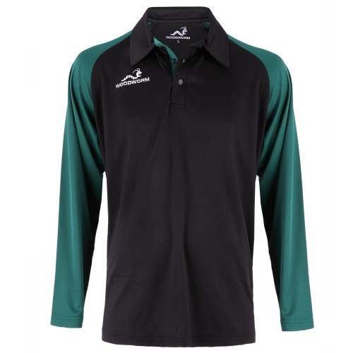 Woodworm Pro Cricket Long Sleeve Shirt Green