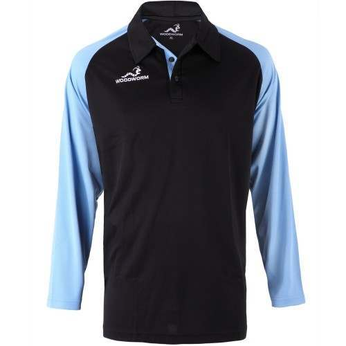 Woodworm Pro Cricket Long Sleeve Shirt Sky Blue