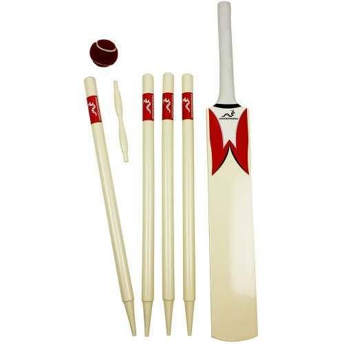 Woodworm Junior Cricket Set - Red Size 6