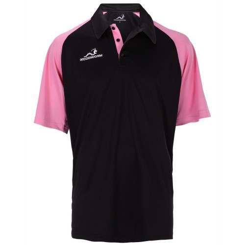 Woodworm Pro Cricket Short Sleeve Shirt Pink