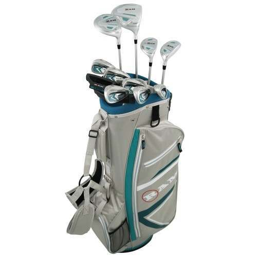 Ram Golf Accubar 16pc Petite Golf Clubs Set - Graphite Shafted Woods and Irons - Ladies Right Hand