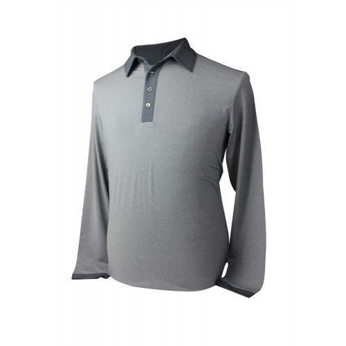 Adidas Mens AdiPure Heather Long Sleeve Polo