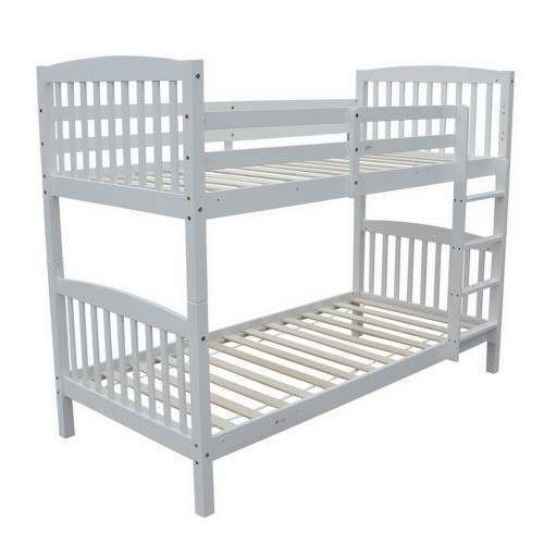 Homegear 3FT Single Wooden Bunk Bed White