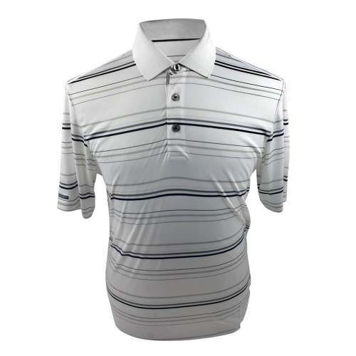 Ashworth Performance Interlock Stripe Polo Shirt