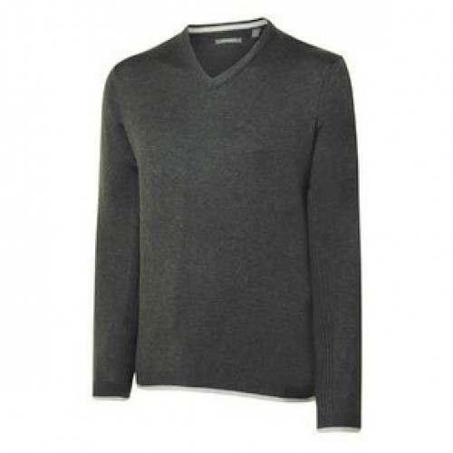 Ashworth Mens Melange Pima V-Neck Sweater