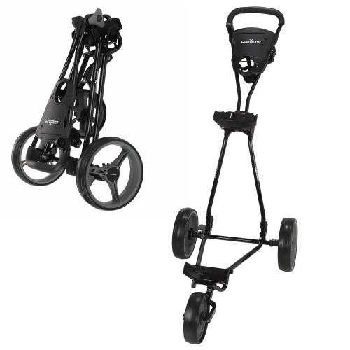 Caddymatic Golf Continental 3 Wheel Folding Golf Push/Pull Trolley Black