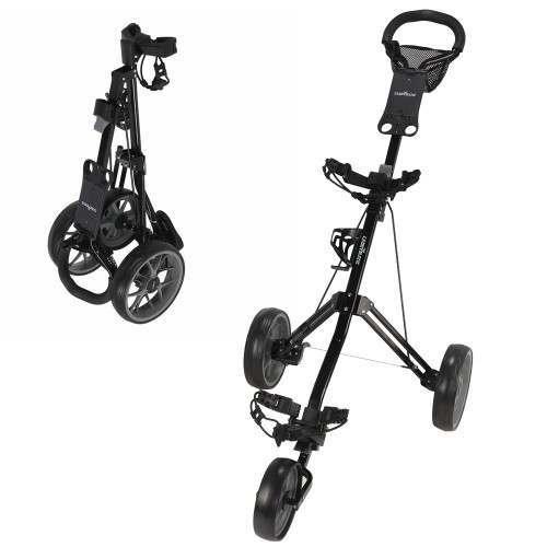 Caddymatic Golf Pro Lite 3 Wheel Golf Trolley Black