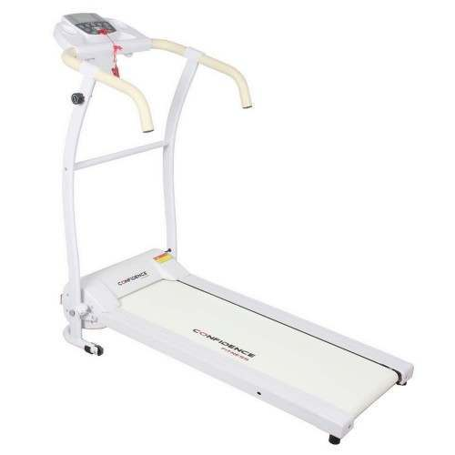 Confidence Fitness TP-1 Electric Treadmill Folding Motorised Running Machine - White