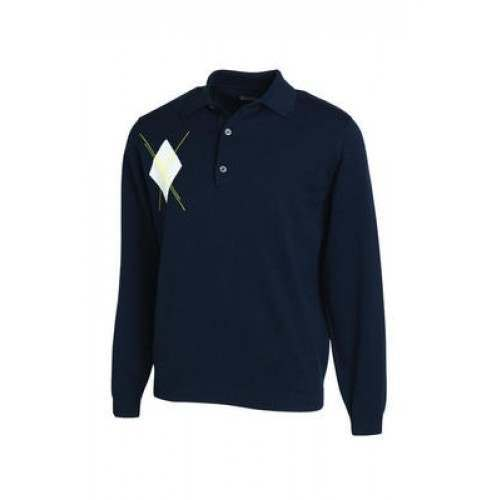Ashworth Long Sleeve Merino Polo
