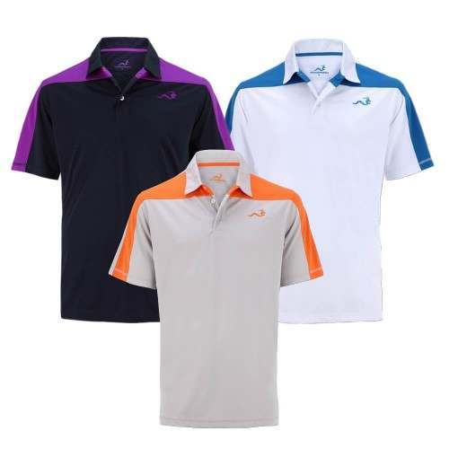 Woodworm Golf Block Panel Golf Polo Shirt 3 Pack