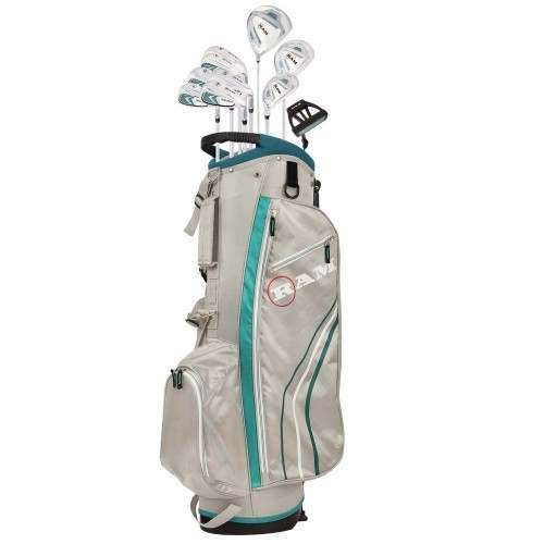Ram Golf Accubar 13pc Golf Clubs Set - Graphite Shafted Woods and Irons - Ladies Right Hand