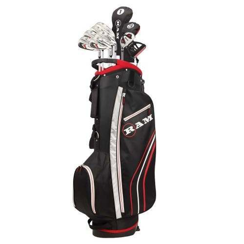 Ram Golf Accubar 13pc Golf Clubs Set - Graphite Shafted Woods, Steel Shafted Irons - Mens Right Hand