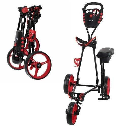 Ram Golf X-Pro Laser 3 Wheel Golf Pull Cart / Trolley with Seat