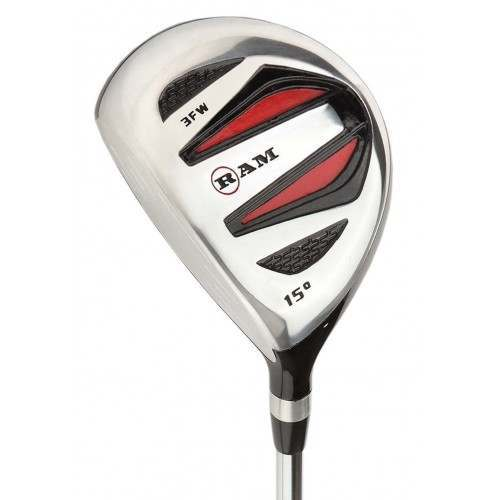 Ram Golf SGS #3 Fairway Wood - Mens Left Hand - Headcover Included - Steel Shaft