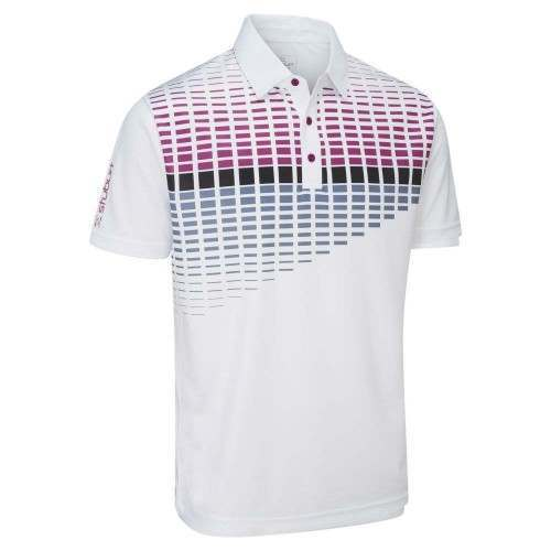 Stuburt 2018 Endurance Block Polo Shirt White Plum