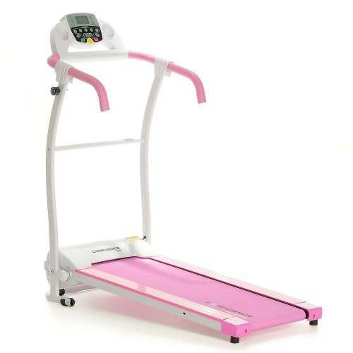 Confidence Fitness TP-1 Electric Treadmill Folding Motorised Running Machine - Pink
