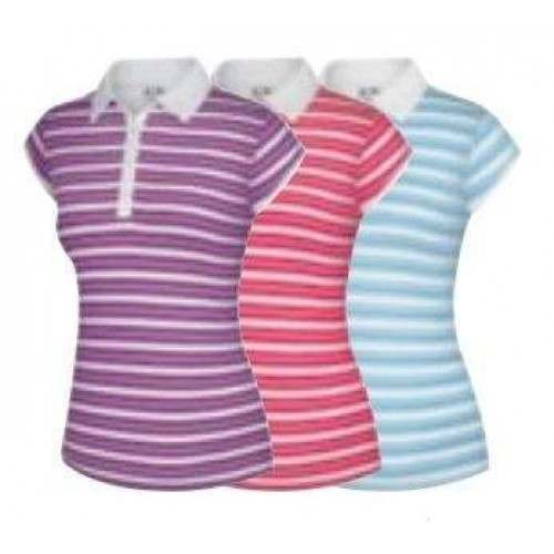 Adidas Ladies Climalite Merchandising Stripe Polo