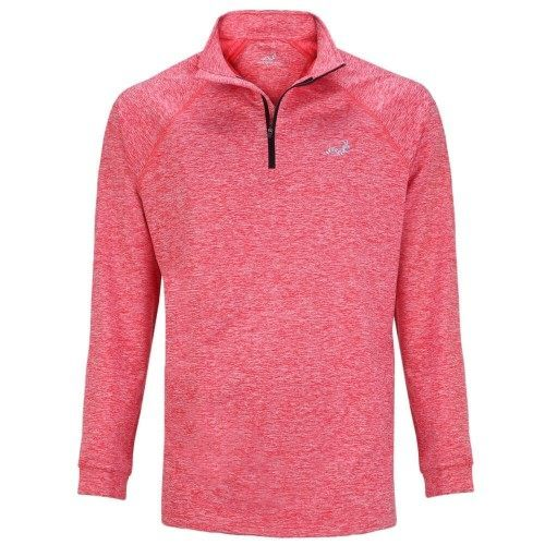 Woodworm Golf ¼ Zip Heather Pullover Sweater Red